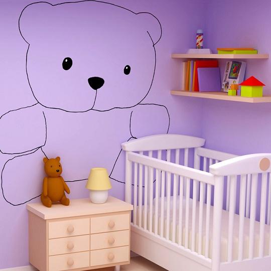 Vinilo osito para habitaciones de beb s for Vinilos juveniles nina