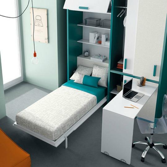 Mobiliario juvenil - Habitaciones camas abatibles ...