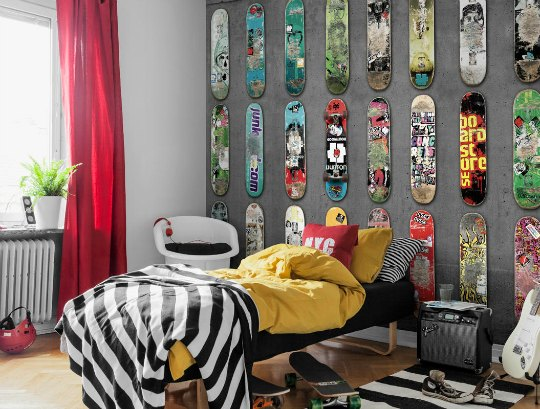 murales para habitaciones juveniles. Black Bedroom Furniture Sets. Home Design Ideas