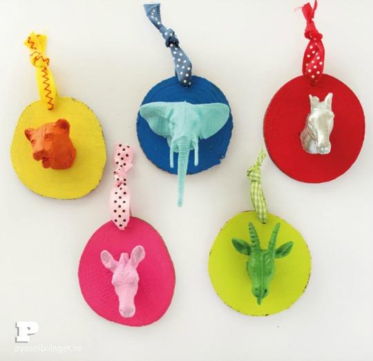 DIY Trofeos de animales para decorar | Decoideas.Net