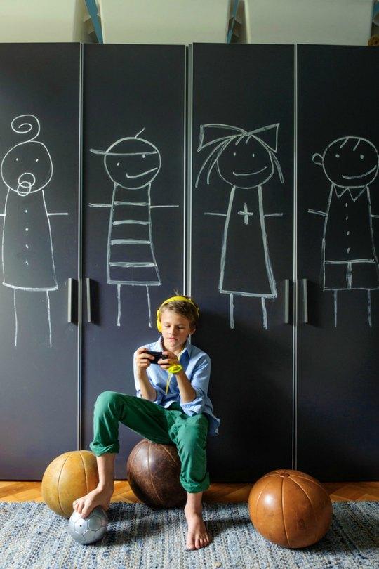 Pintura de pizarra para los armarios infantiles - Pintura pizarra colores ...