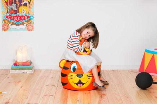 Divertidos puffs para habitaciones infantiles