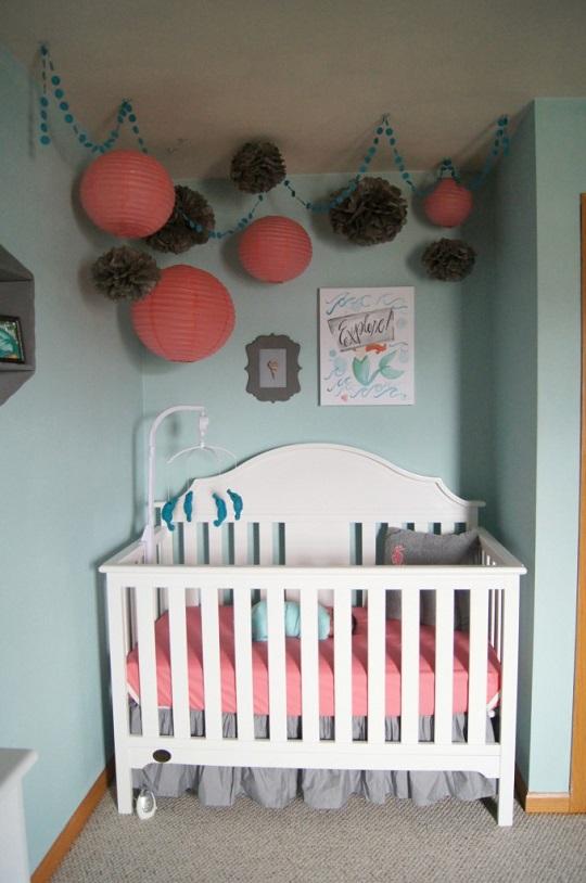 Una habitaci n de beb ni a de estilo marinero - Habitacion de nina bebe ...