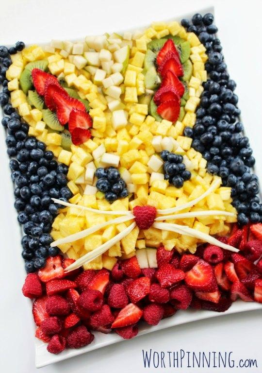 Ensalada de frutas conejo de Pascua