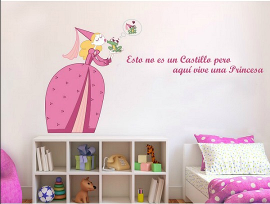 Decorar dormitorio nia affordable ejemplos de compartidas for Sticker habitacion infantil