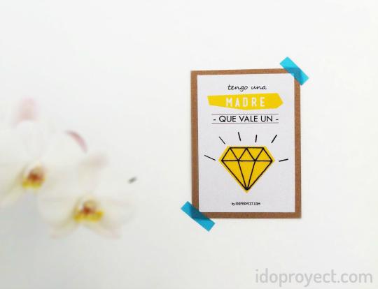 Tarjeta imprimible para el Día de la Madre