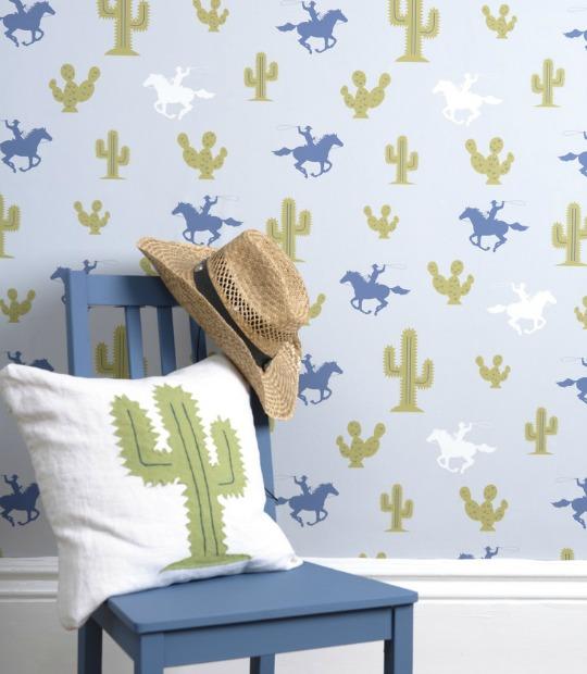 Tendencia cactus, papel pintado