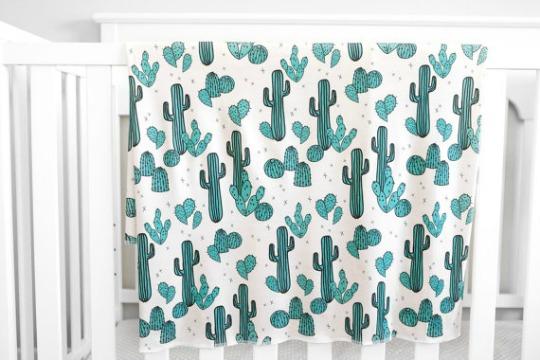 Tendencia cactus, textiles para bebés
