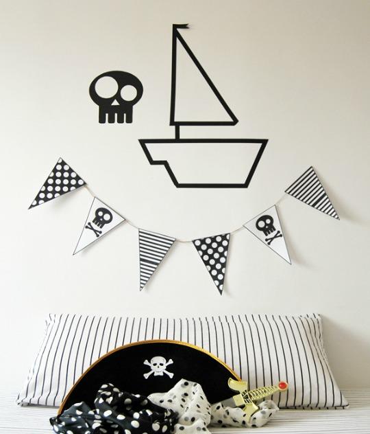 Decorar una habitación Pirata con poco dinero