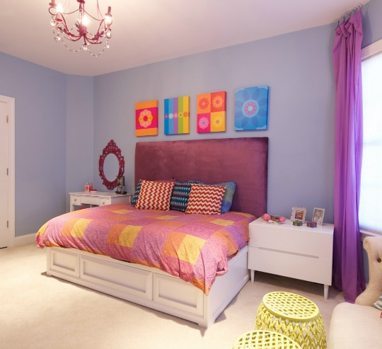 Inspiraci n habitaci n juvenil femenina decoideas net for Distribucion habitacion juvenil