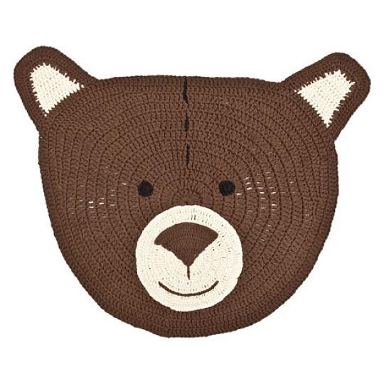 Alfombra oso de crochet for Zara alfombras