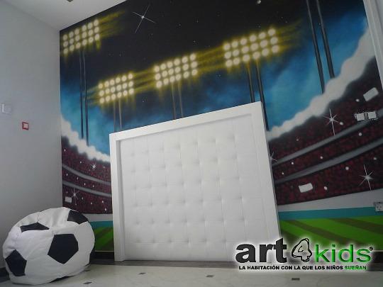 Dormitorio para futbolistas de Art4Kids