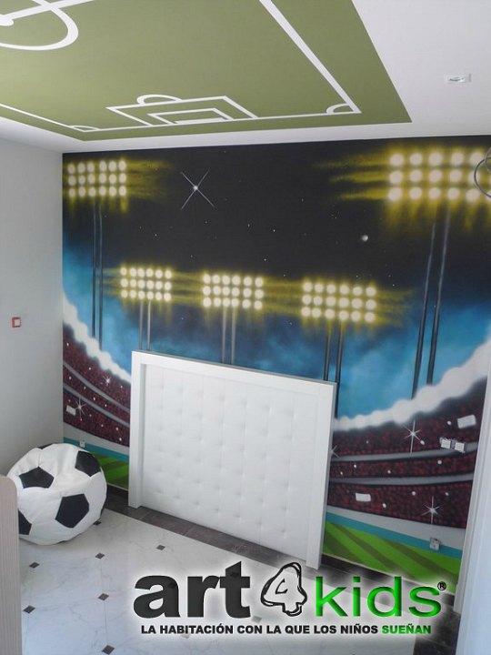 Decoracion futbol - Habitaciones de ninos pintadas ...