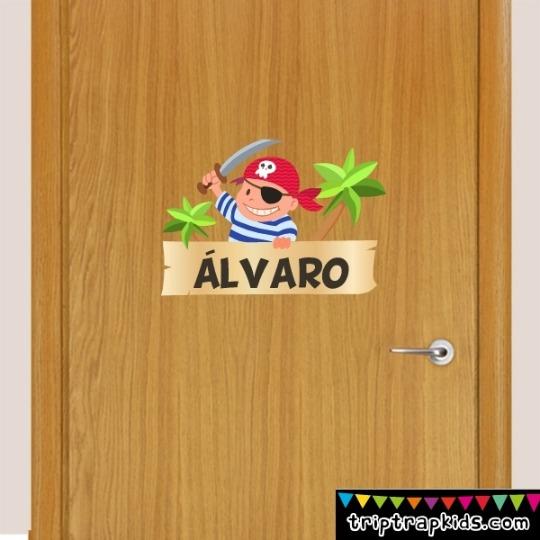 Nombres para puertas en vinilo for Vinilos de pared personalizados