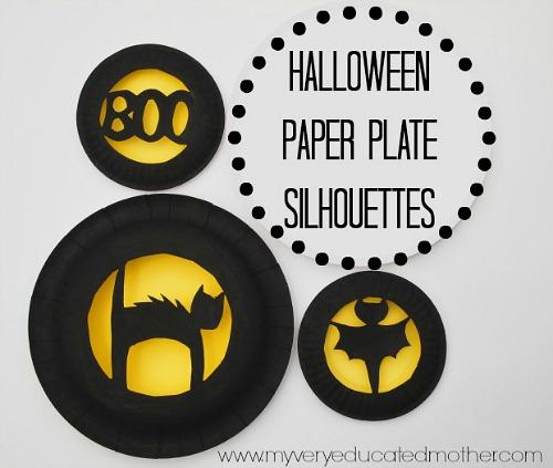 Manualidades para Halloween con platos
