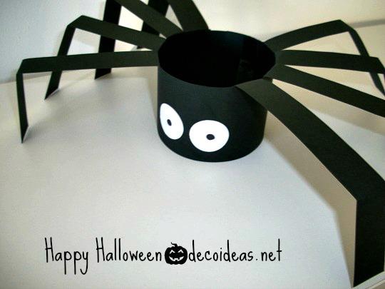 C mo hacer ara as de cartulina para halloween - Manualidades halloween faciles para ninos ...