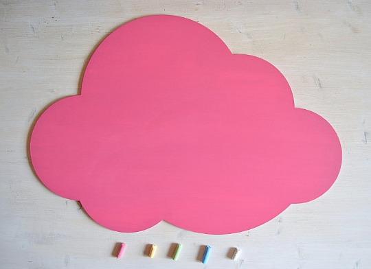 Pizarra con dise o de nube - Pintura de pizarra para pared ...