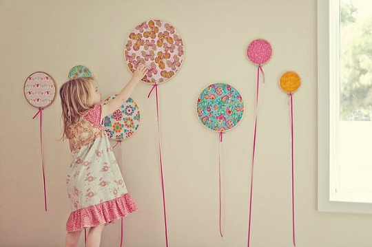 Ideas decoración: globos con bastidores