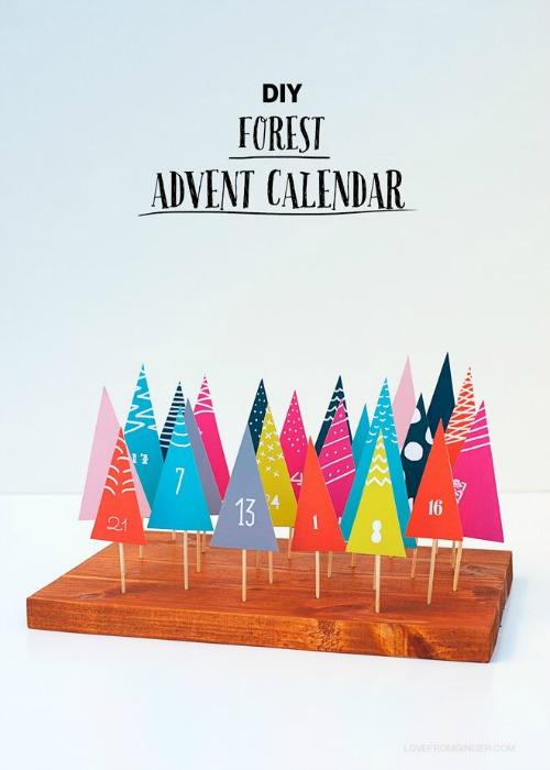 Calendarios de Adviento creativos