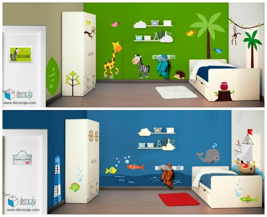 Con decocaja decorar la habitaci n infantil es f cil y for Decoracion del hogar facil y economico