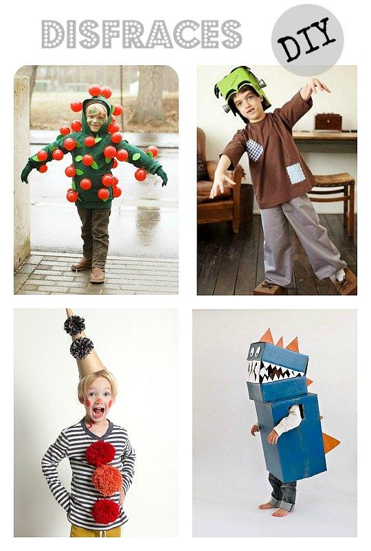 4 Disfraces infantiles rápidos y sencillos