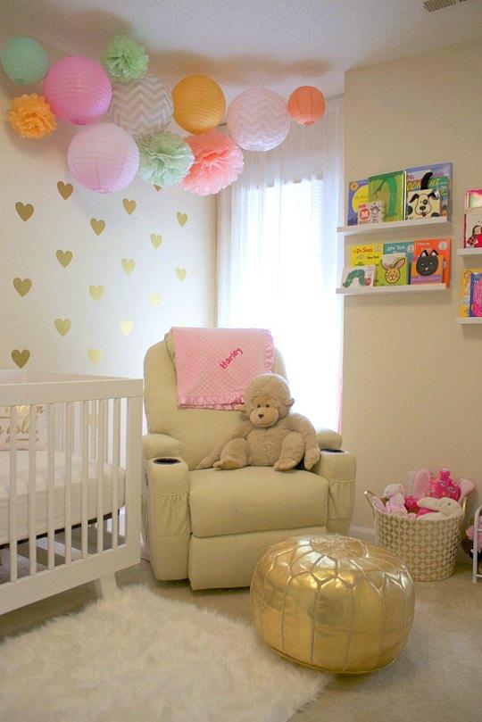 Decoraci n rom ntica y relajada para la habitaci n del beb - Habitaciones de bebe ...
