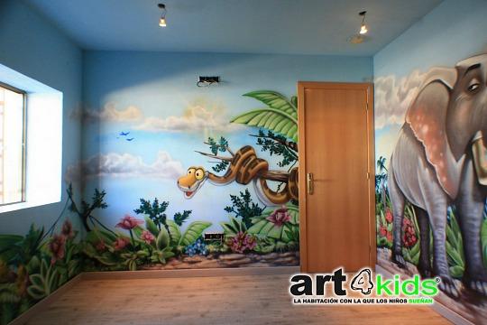 Habitación infantil temática: Selva