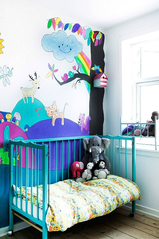 Habitación de bebé a todo color
