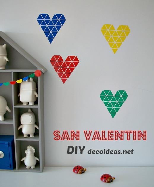 DIY San Valentín: decorar con corazones