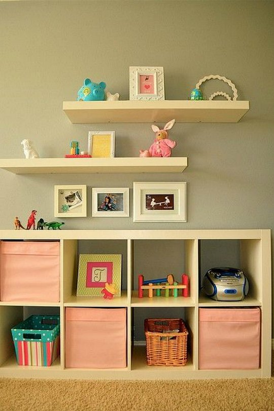 Kallax inspiraci n para las habitaciones infantiles Estanterias infantiles ikea