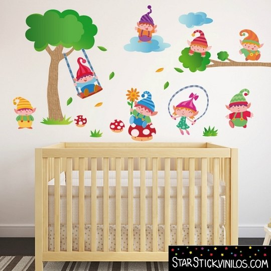 Decora la habitaci n del beb con vinilos starstick for Pegatinas decoracion bebe