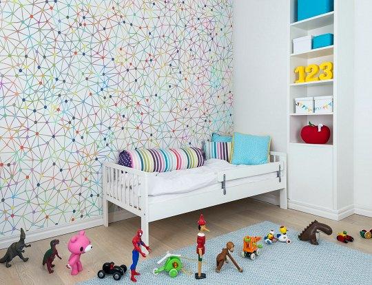Papel pintado infantil for Papel decorativo pared infantil