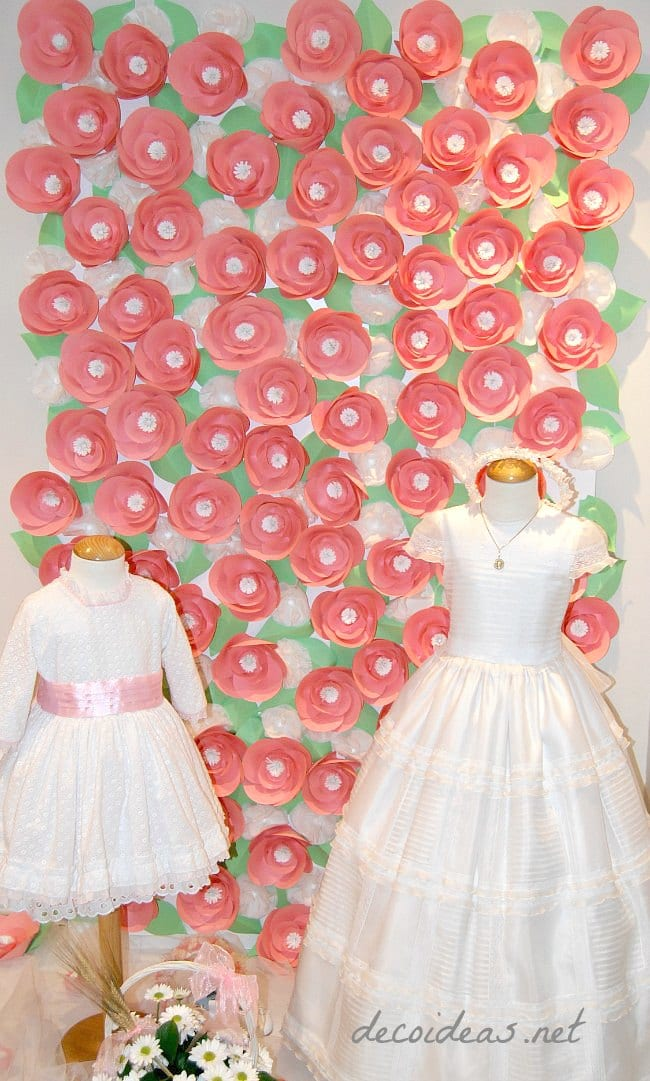Una pared de flores para Carmen