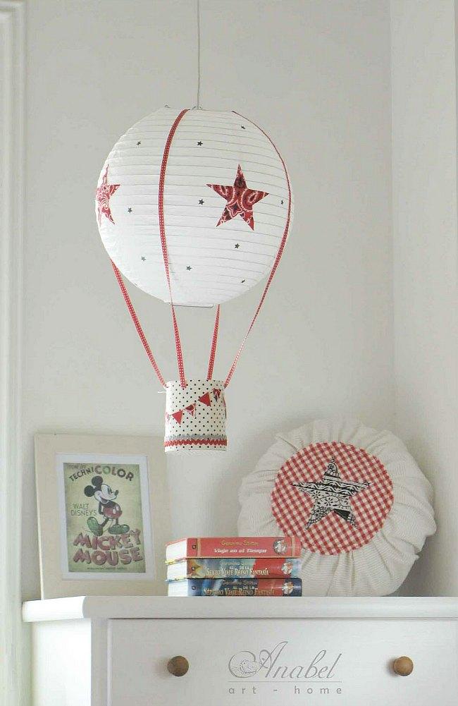C mo hacer una l mpara globo decoraci n infantil for Lampara globo ikea
