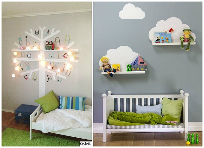 Estante ribba de ikea para las habitaciones infantiles - Dibujos para paredes de bebes ...