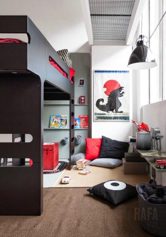 6 ambientes juveniles para chicos decoideas net for Vinilos habitacion juvenil chico