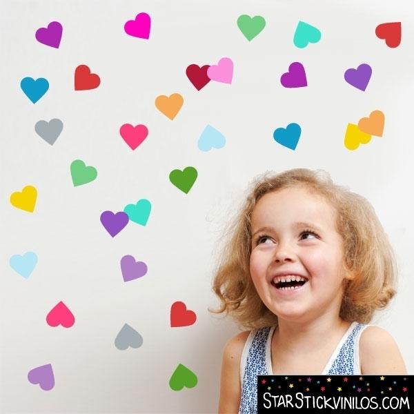 Vinilo corazones de colores