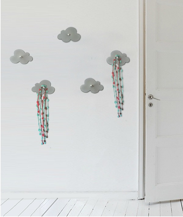 Percheros infantiles con forma de nube decoideas net - Perchero infantil pared ...