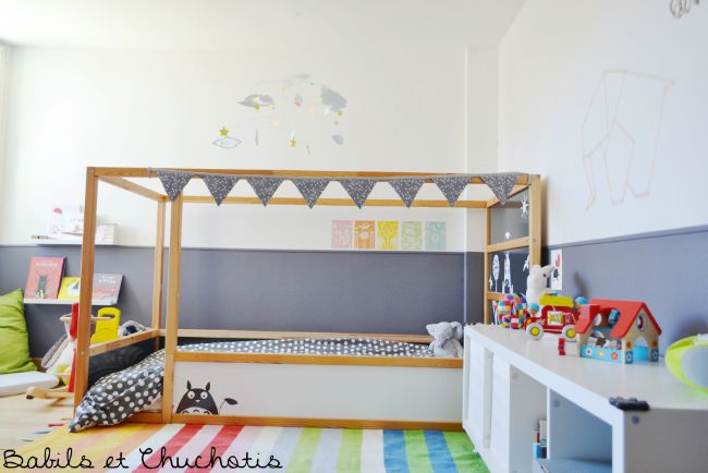 Un dormitorio infantil con muebles de ikea - Decoracion de habitaciones ikea ...