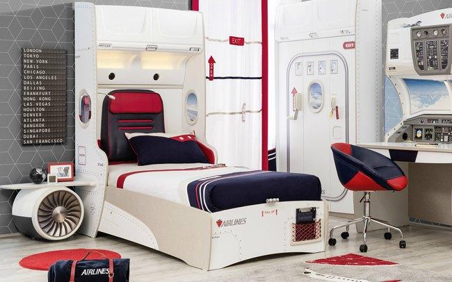 Habitación infantil Aviones