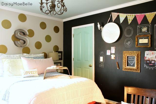 Propuesta habitaciones decoradas con pintura pizarra - Habitaciones decoradas juveniles ...