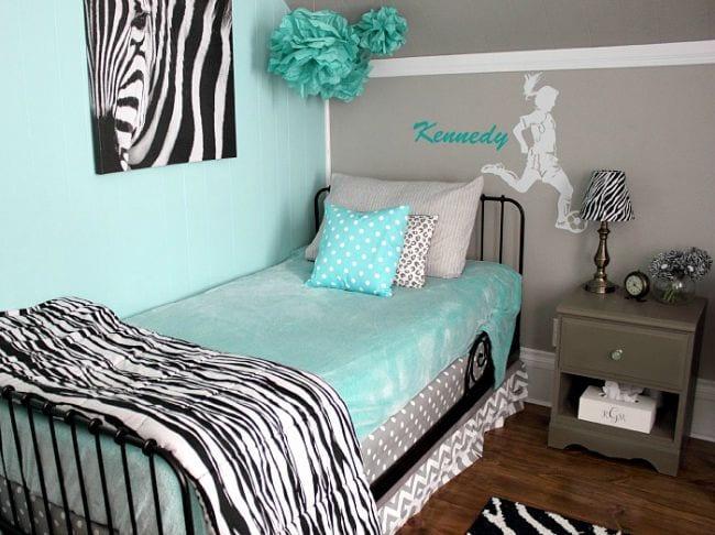 8 habitaciones en gris y turquesa decoideas net for Cuarto azul con gris