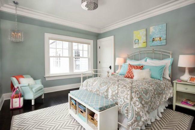 8 habitaciones en gris y turquesa decoideas net ideas for Imagenes de habitaciones decoradas