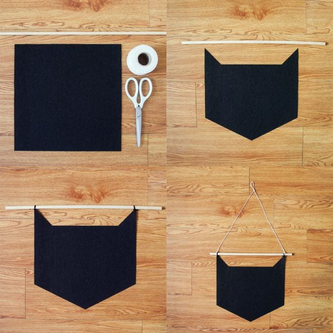 DIY banderola gato