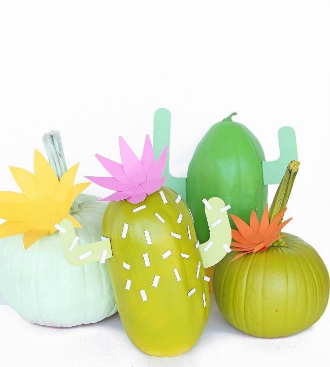 Decorar calabazas Halloween Cactus