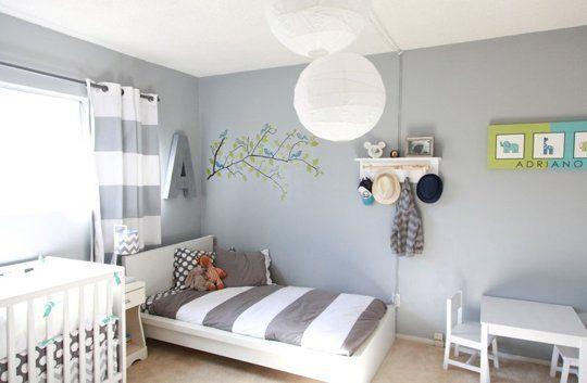 Habitaci n compartida con cama y cuna for Decoracion habitacion compartida nino nina