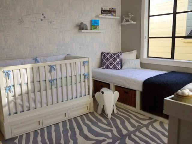 Habitaci n compartida con cama y cuna for Como decorar una cuna