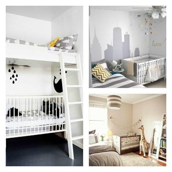 Habitaci n compartida con cama y cuna decoideas net for Cama y cuna