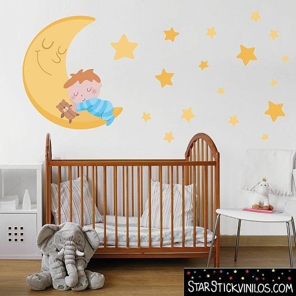 vinilo-luna-estrellas-niño