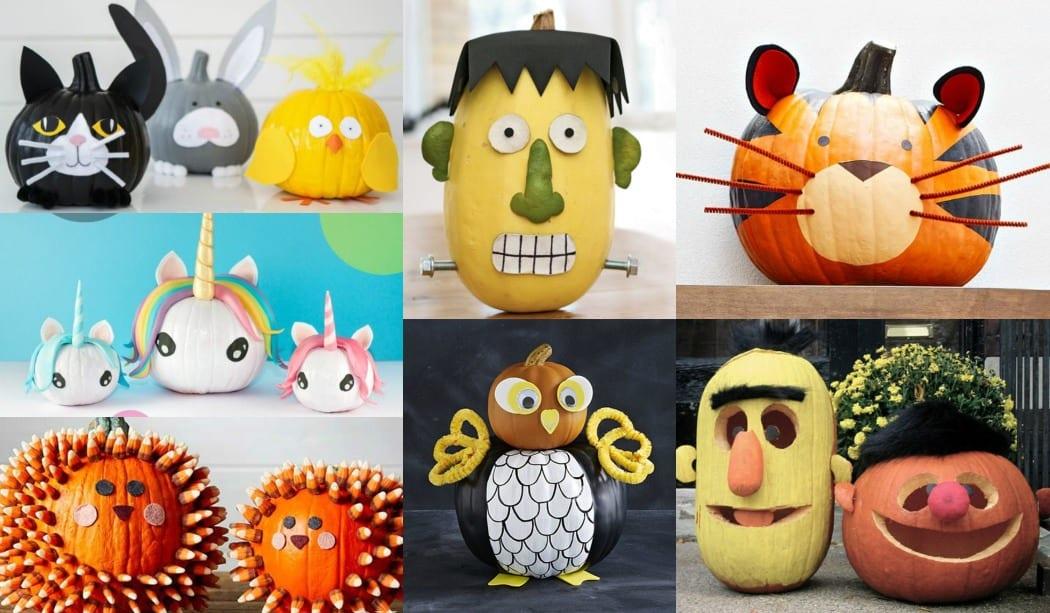 30 ideas para decorar calabazas halloween con ni os - Decoracion calabazas para halloween ...